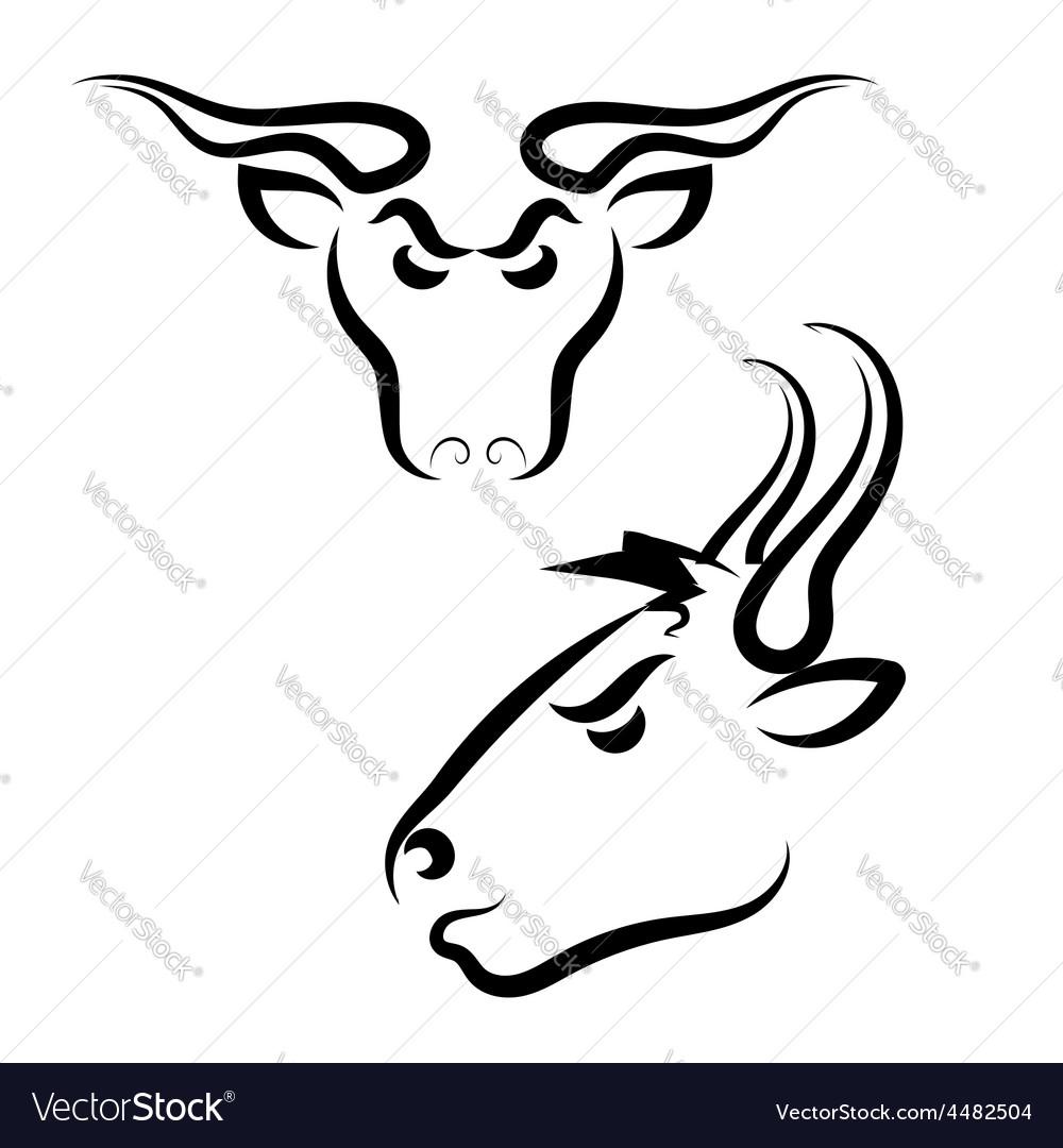 Bull logo vector | Price: 1 Credit (USD $1)