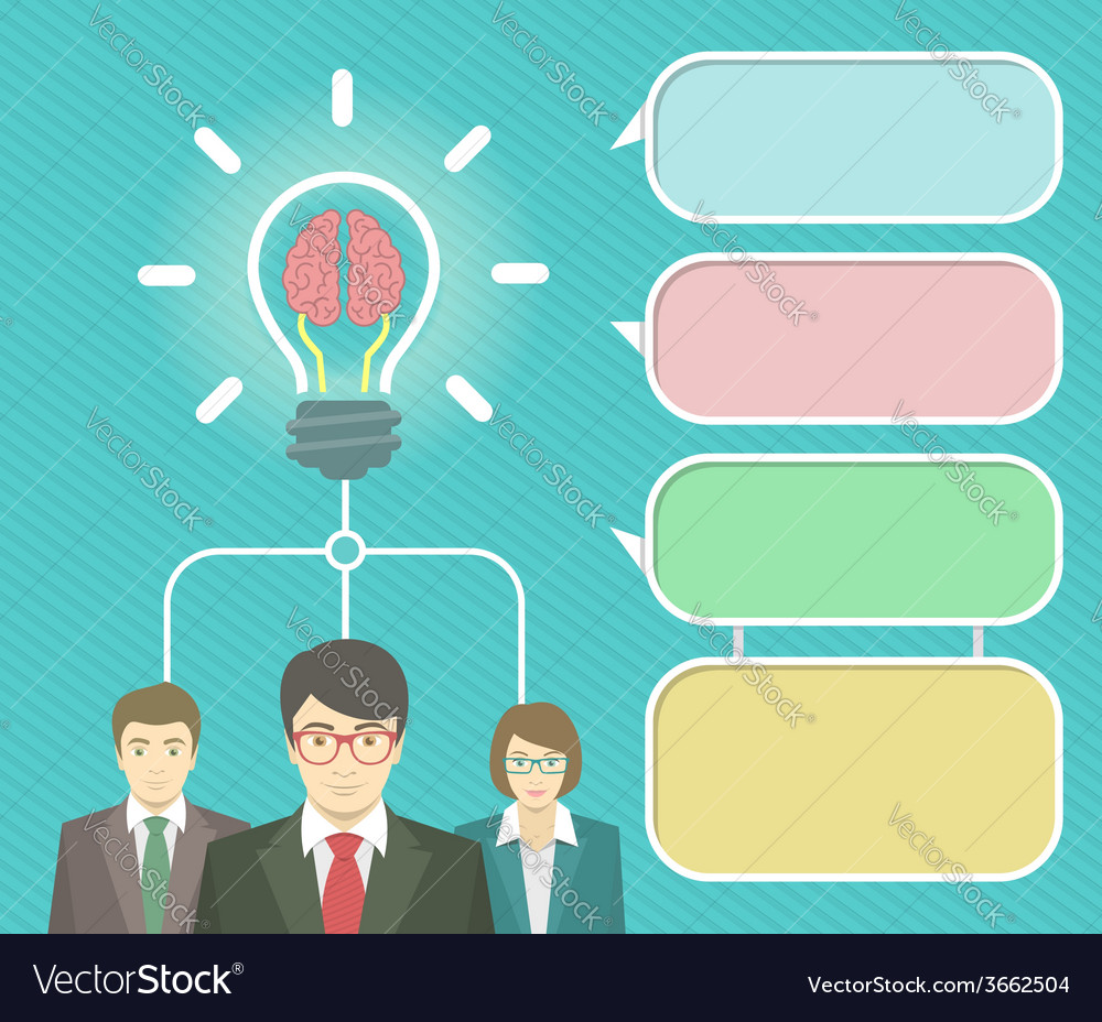 Business idea infographics elements vector | Price: 1 Credit (USD $1)