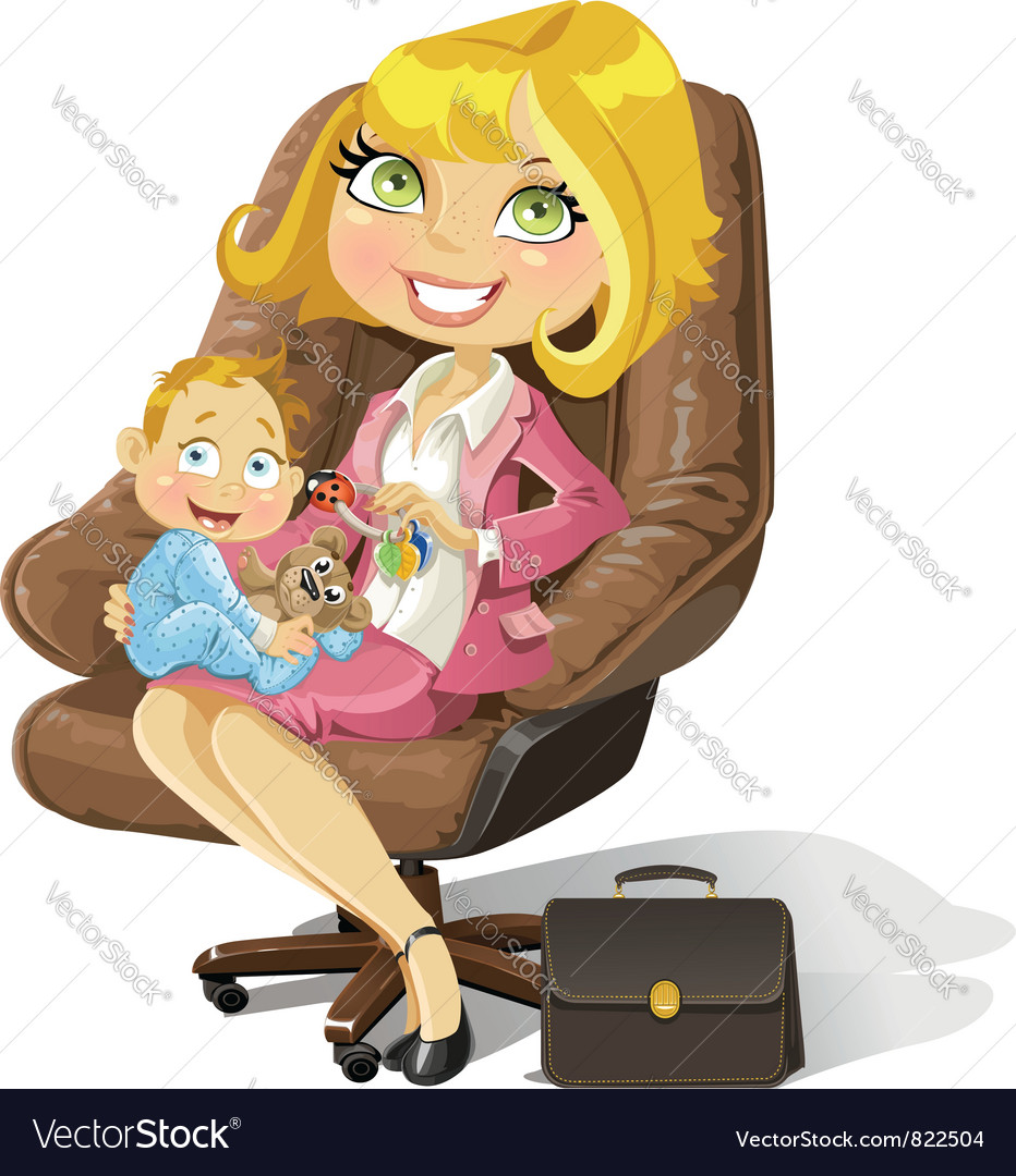 Business mom vector | Price: 3 Credit (USD $3)