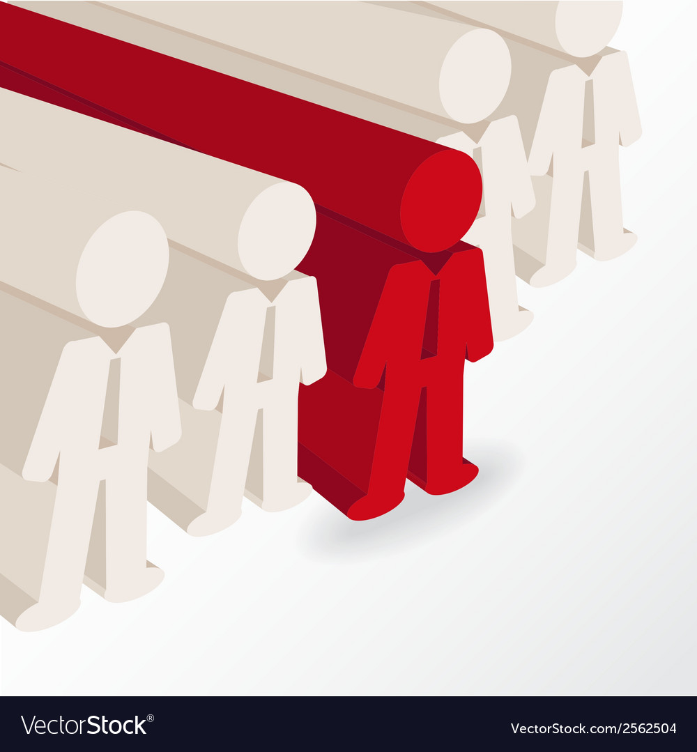 Businessman stands out vector | Price: 1 Credit (USD $1)