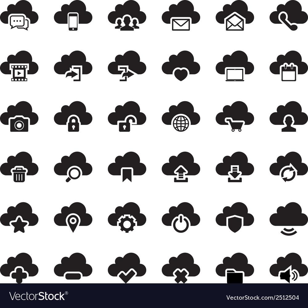 Cloud icon vector | Price: 1 Credit (USD $1)