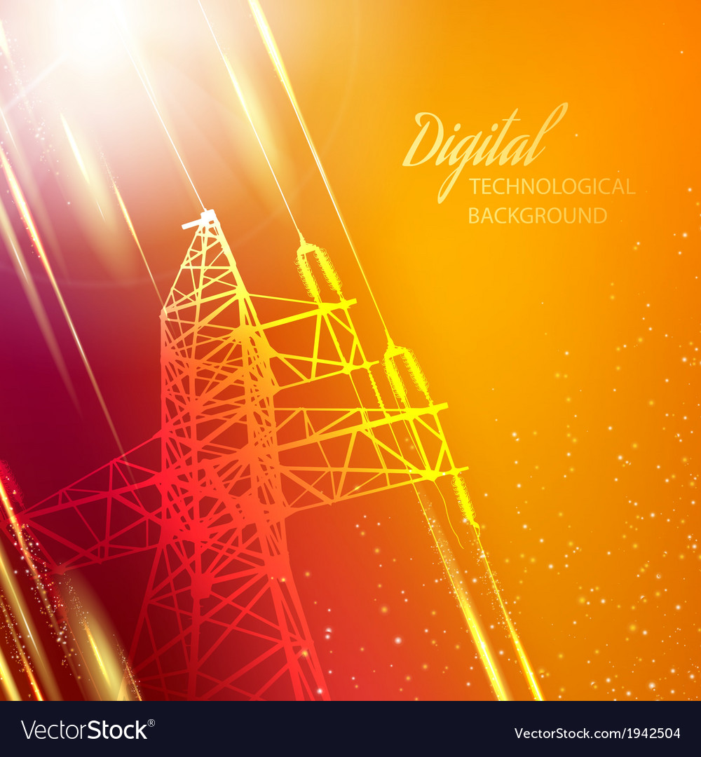 Electric power transmission tower vector | Price: 1 Credit (USD $1)