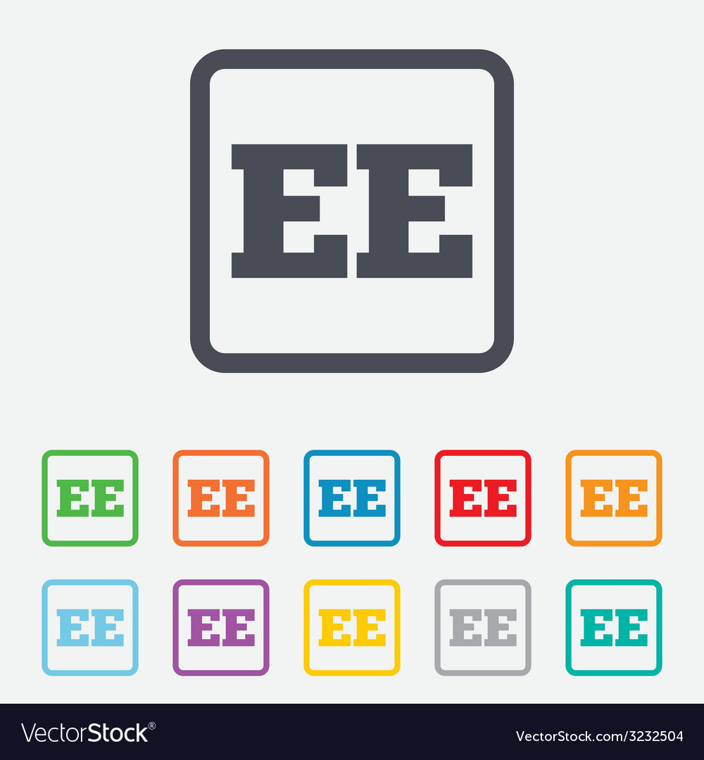 Estonian language sign icon ee translation vector   Price: 1 Credit (USD $1)