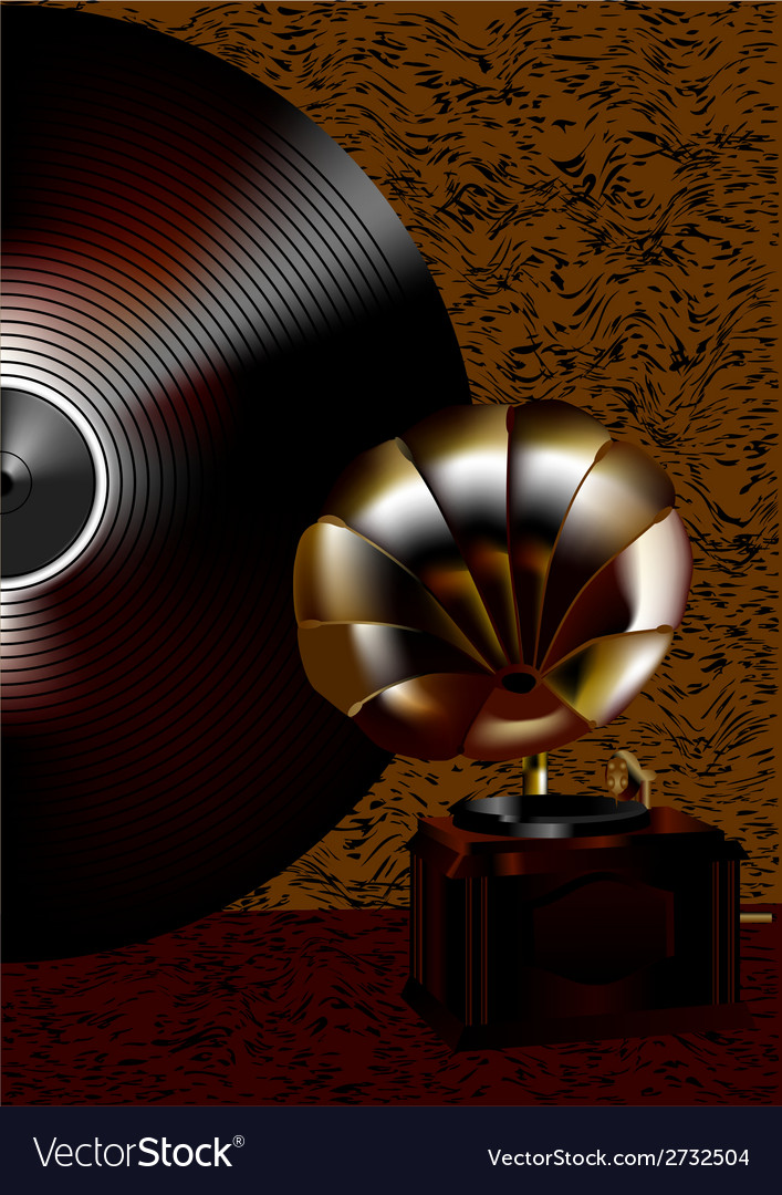 Gramophone and disk vector | Price: 1 Credit (USD $1)