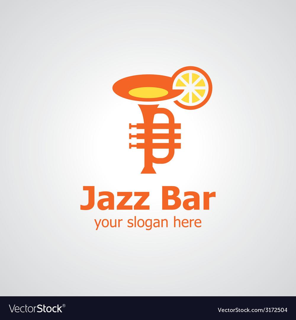 Jazz bar logo vector | Price: 1 Credit (USD $1)