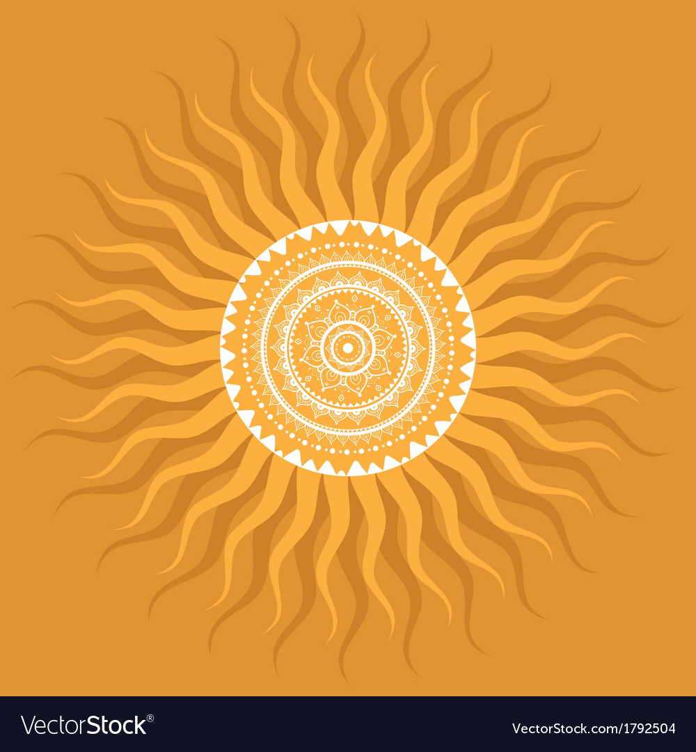Mandala sun pattern vector | Price: 1 Credit (USD $1)