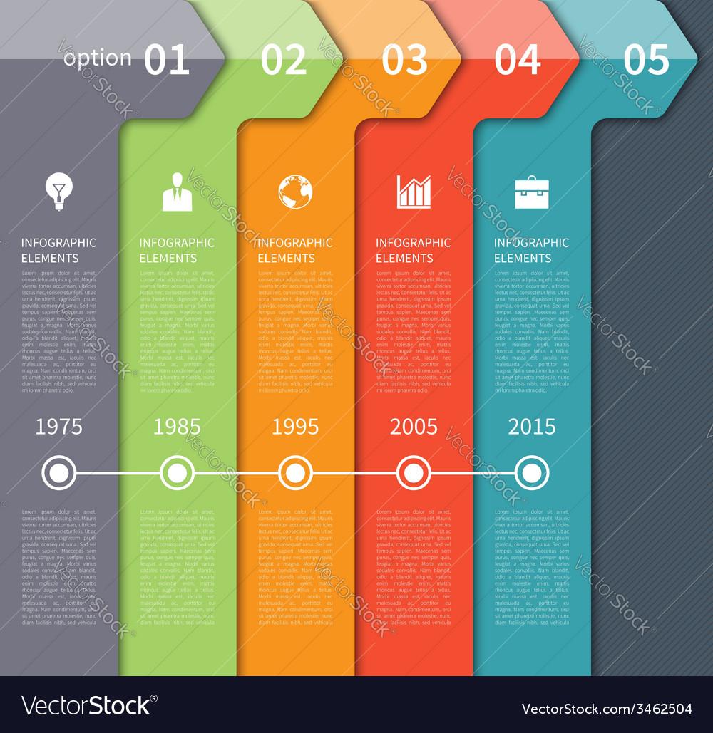 Modern timeline arrow infographics elements vector | Price: 1 Credit (USD $1)