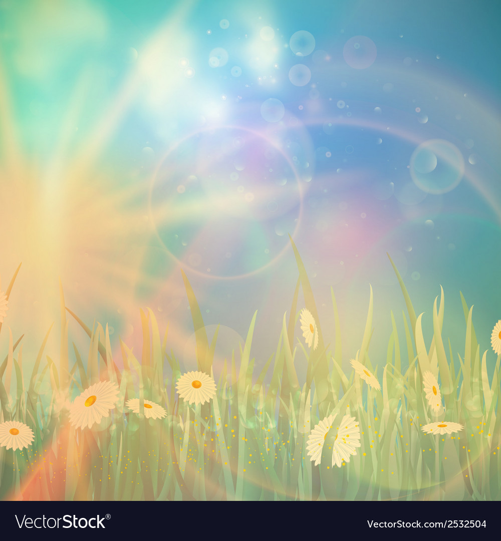 Nature spring or summer vintage style background vector | Price: 1 Credit (USD $1)