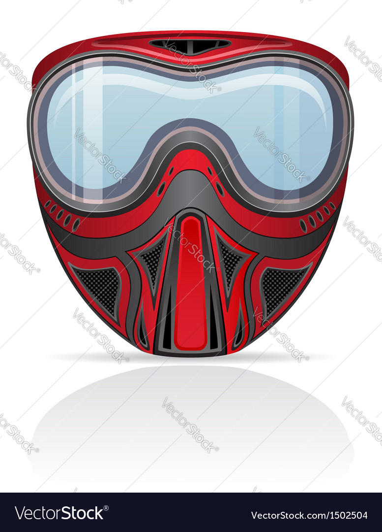 Paintball mask 01 vector | Price: 1 Credit (USD $1)