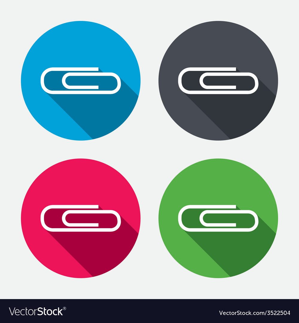 Paper clip sign icon clip symbol vector | Price: 1 Credit (USD $1)