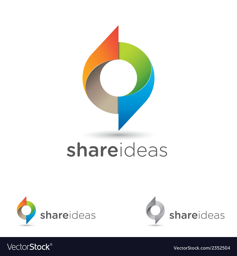 Share ideas vector | Price: 1 Credit (USD $1)
