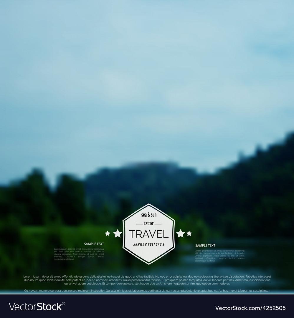 Blurred landscape background travel concept vector | Price: 1 Credit (USD $1)
