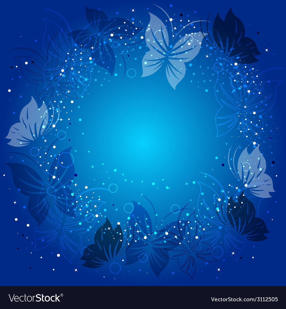 Ecological background with butterflies vector | Price: 1 Credit (USD $1)