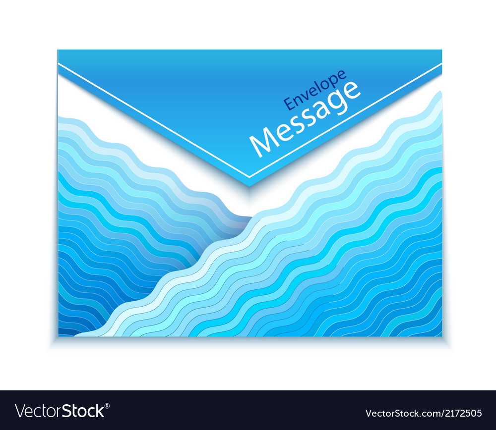 Envelope design with waves vector | Price: 1 Credit (USD $1)