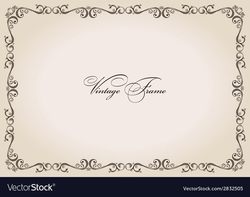 Frame vintage retro decor ornament vector | Price: 1 Credit (USD $1)