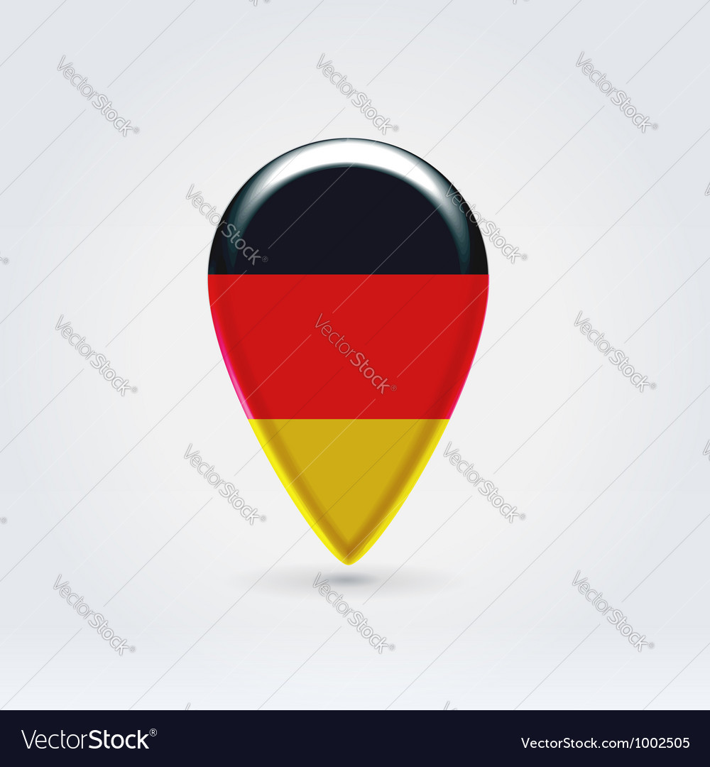 German icon point for map vector | Price: 1 Credit (USD $1)