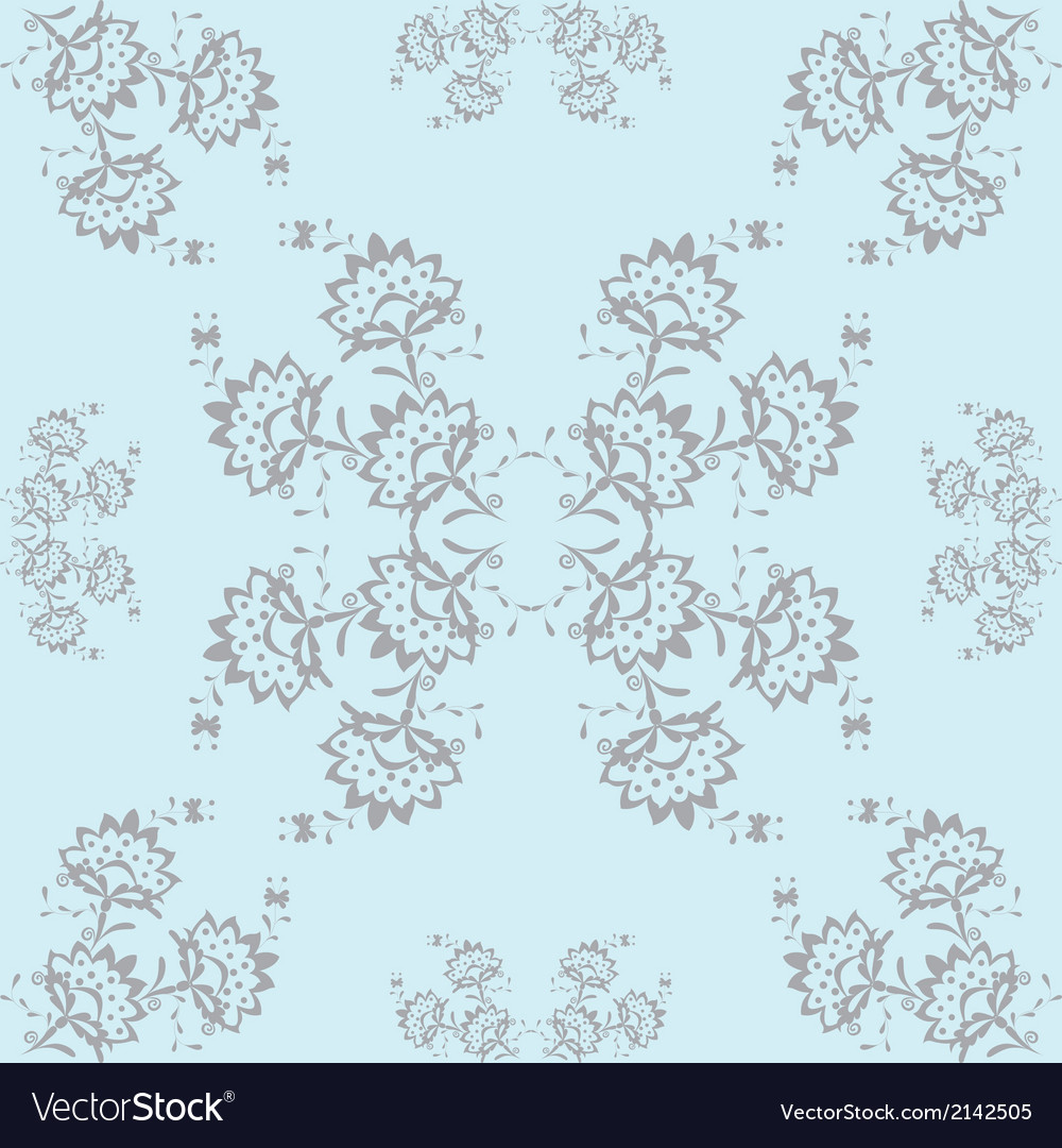 Gray flowers vector | Price: 1 Credit (USD $1)