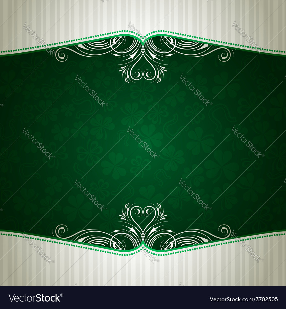 Green card with shamrock vector | Price: 1 Credit (USD $1)