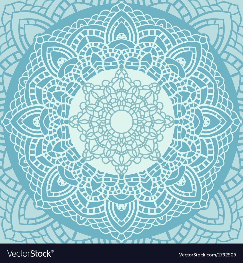 Indian lace ornament vector | Price: 1 Credit (USD $1)