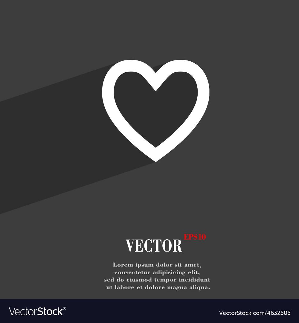 Medical heart love icon symbol flat modern web vector | Price: 1 Credit (USD $1)