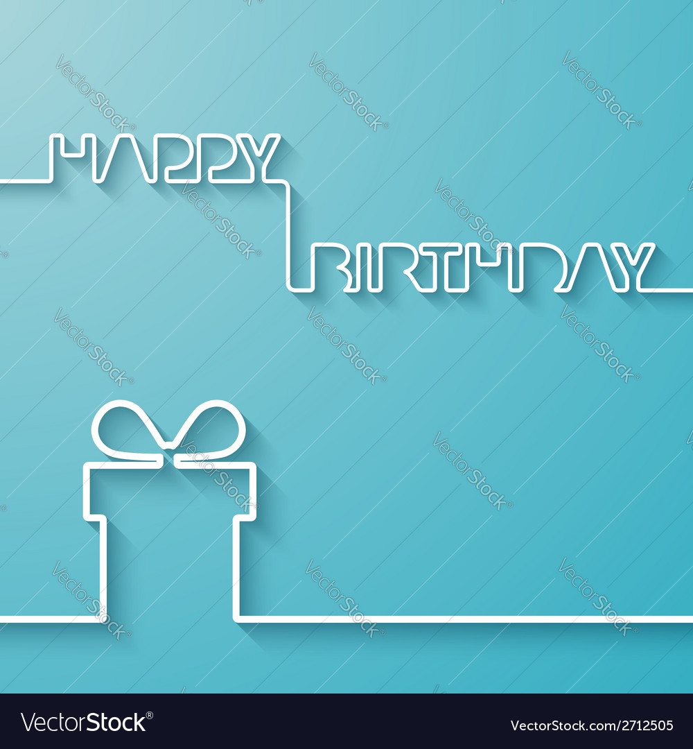 Silhouette of text and giftbox on a light blue vector | Price: 1 Credit (USD $1)