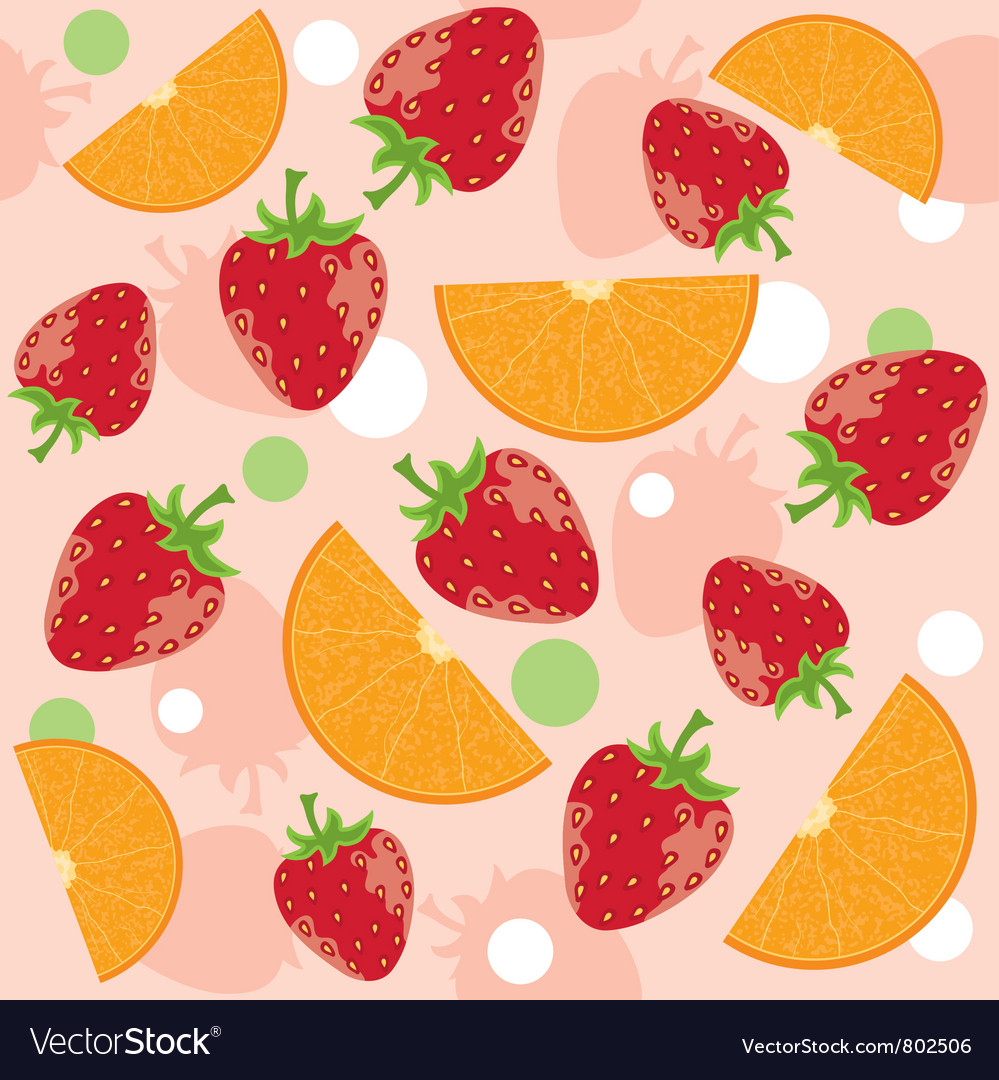 Abstract background with strawberry and oranges vector | Price: 1 Credit (USD $1)