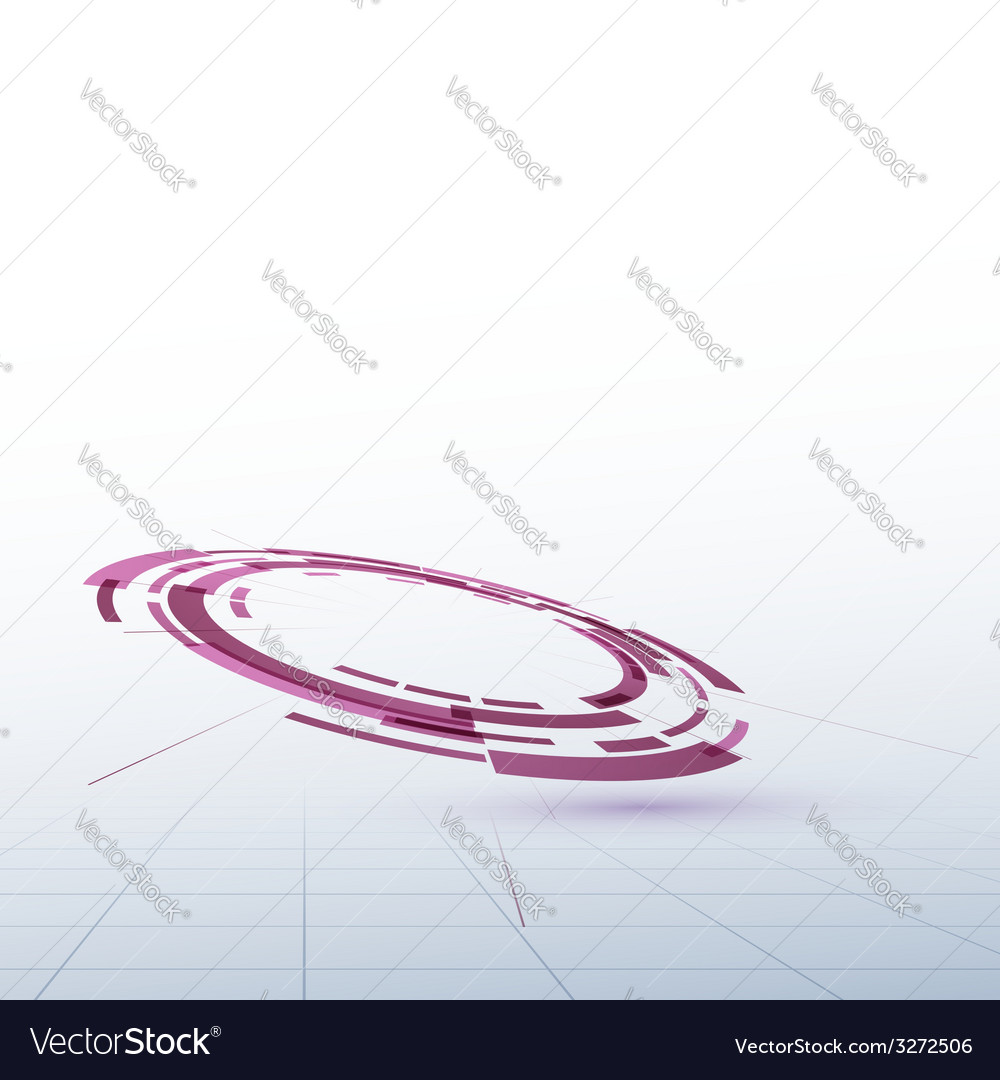 Abstract round circle stage element background vector | Price: 1 Credit (USD $1)