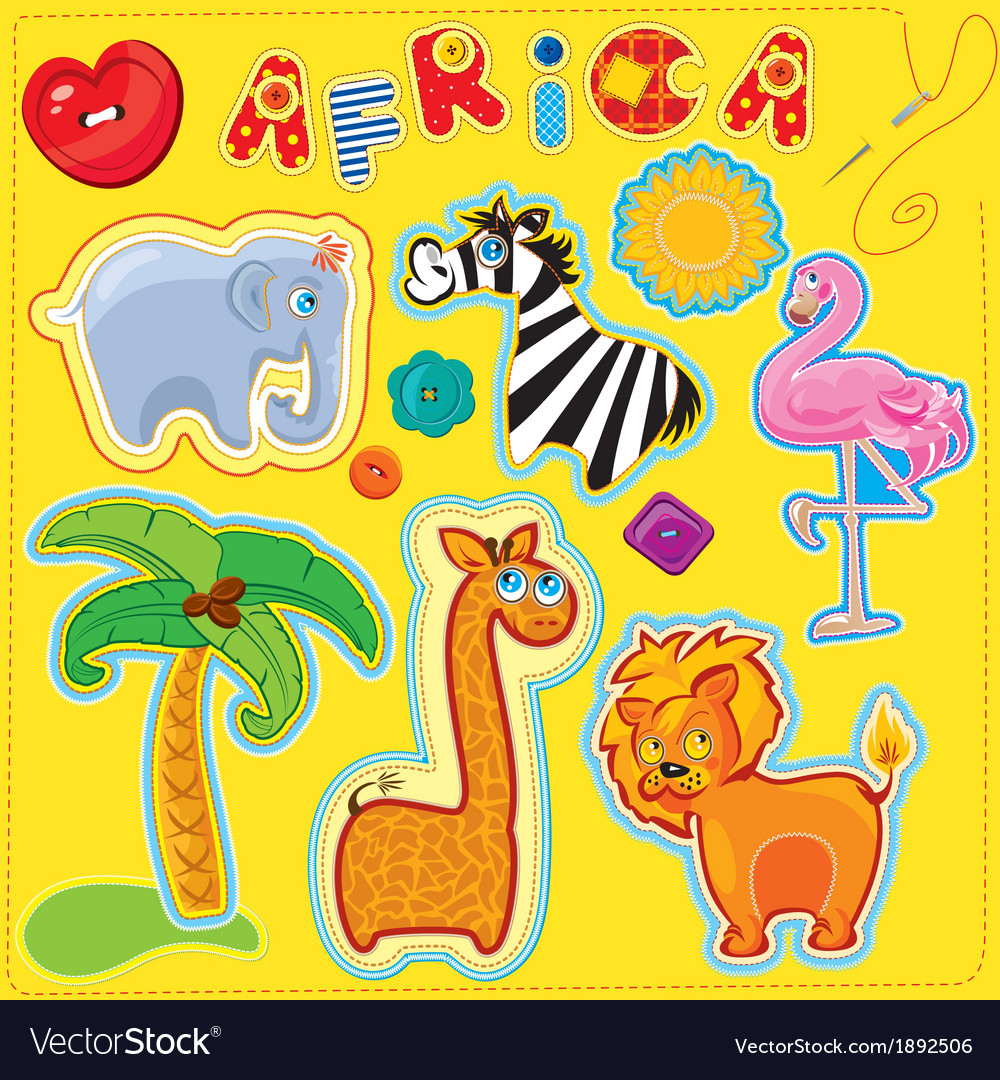 Africa for kids 380 vector | Price: 1 Credit (USD $1)