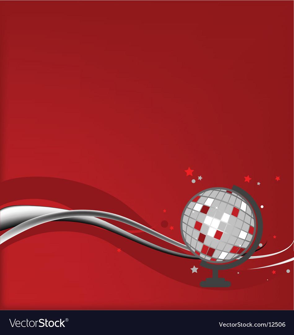 Disco globe vector | Price: 1 Credit (USD $1)