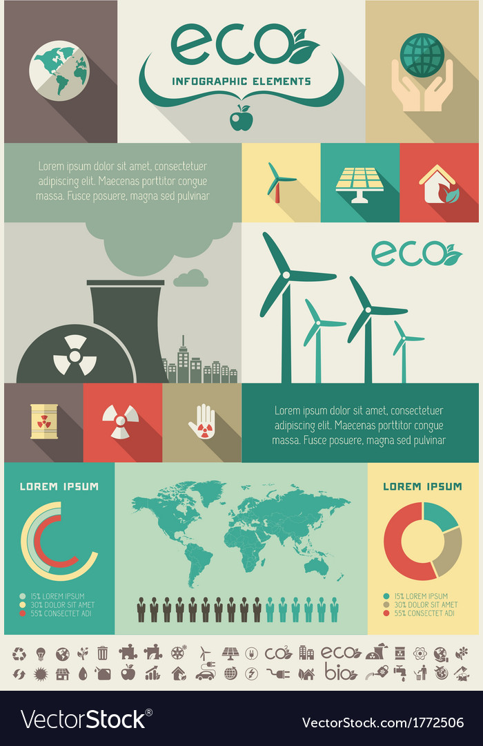 Ecology infographic template vector   Price: 1 Credit (USD $1)