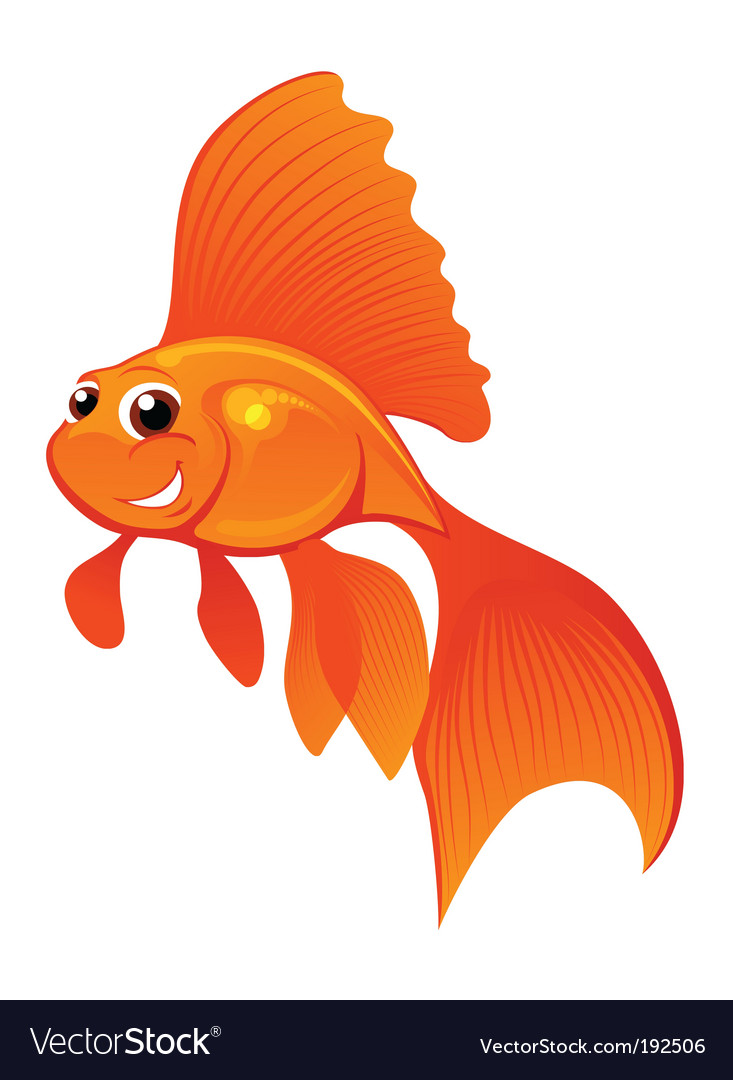 Happy goldfish vector | Price: 1 Credit (USD $1)