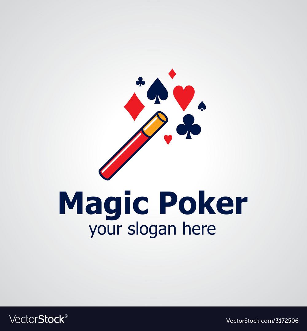 Magic poker logo vector | Price: 1 Credit (USD $1)