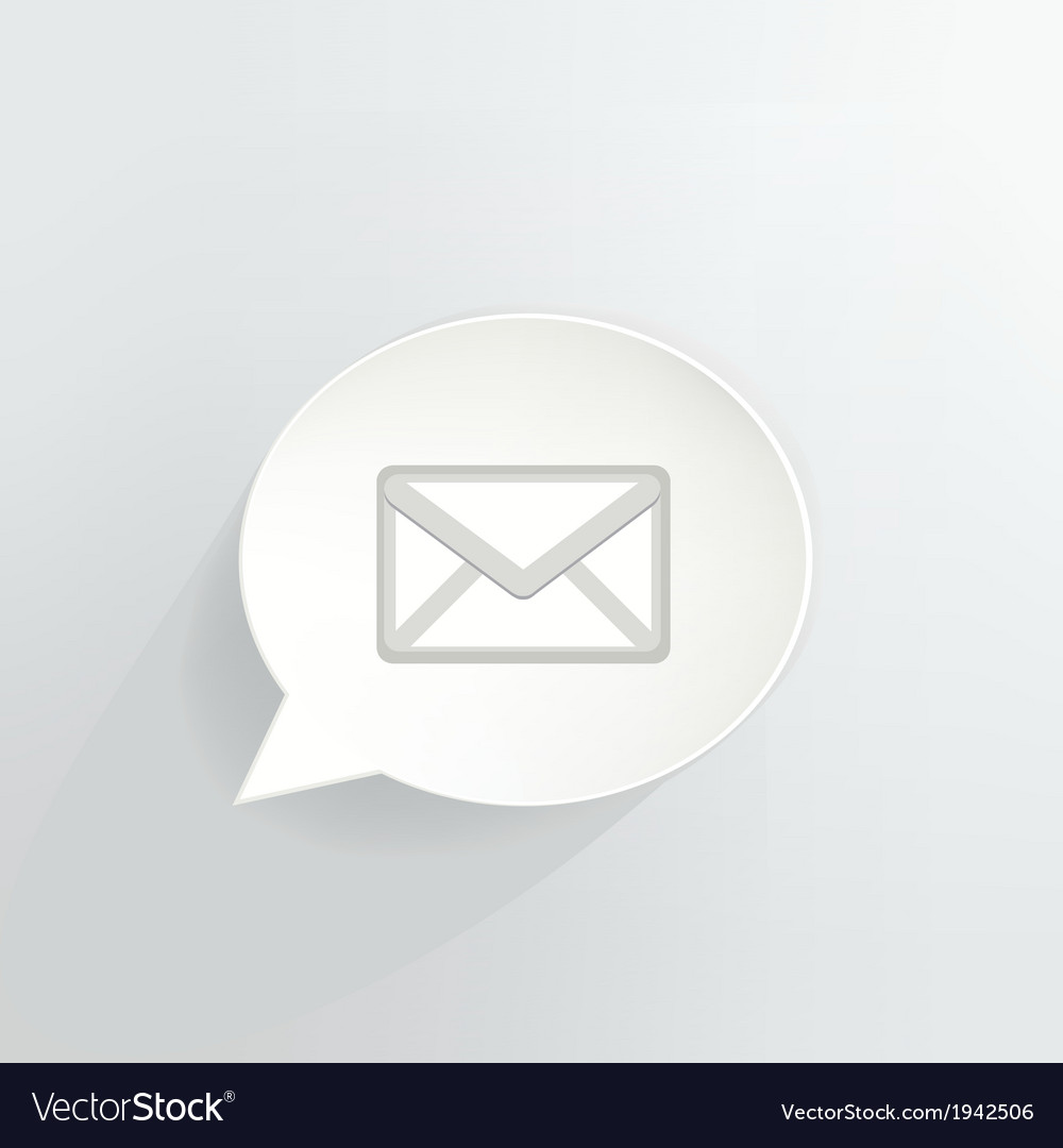 Mail bubble vector | Price: 1 Credit (USD $1)