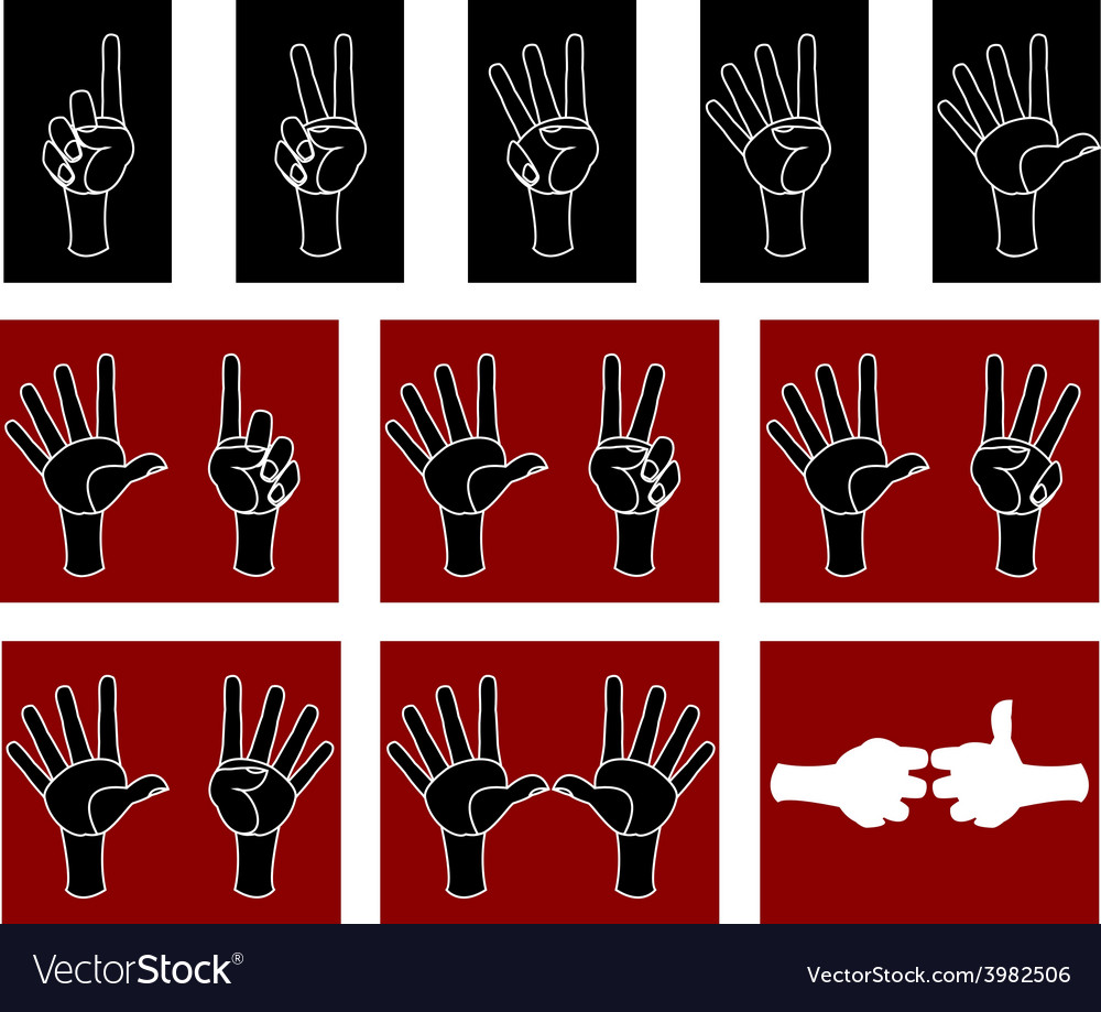 Palm with fingers vector | Price: 1 Credit (USD $1)