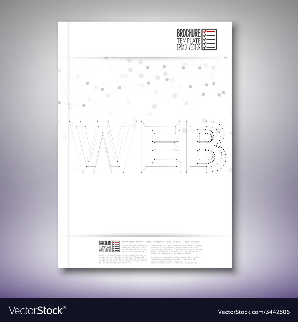 Three dimensional mesh stylish word web brochure vector | Price: 1 Credit (USD $1)