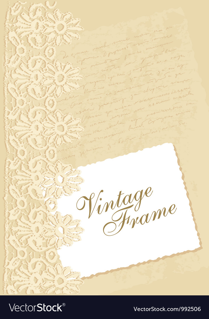 Vintage background with photo frame vector | Price: 1 Credit (USD $1)
