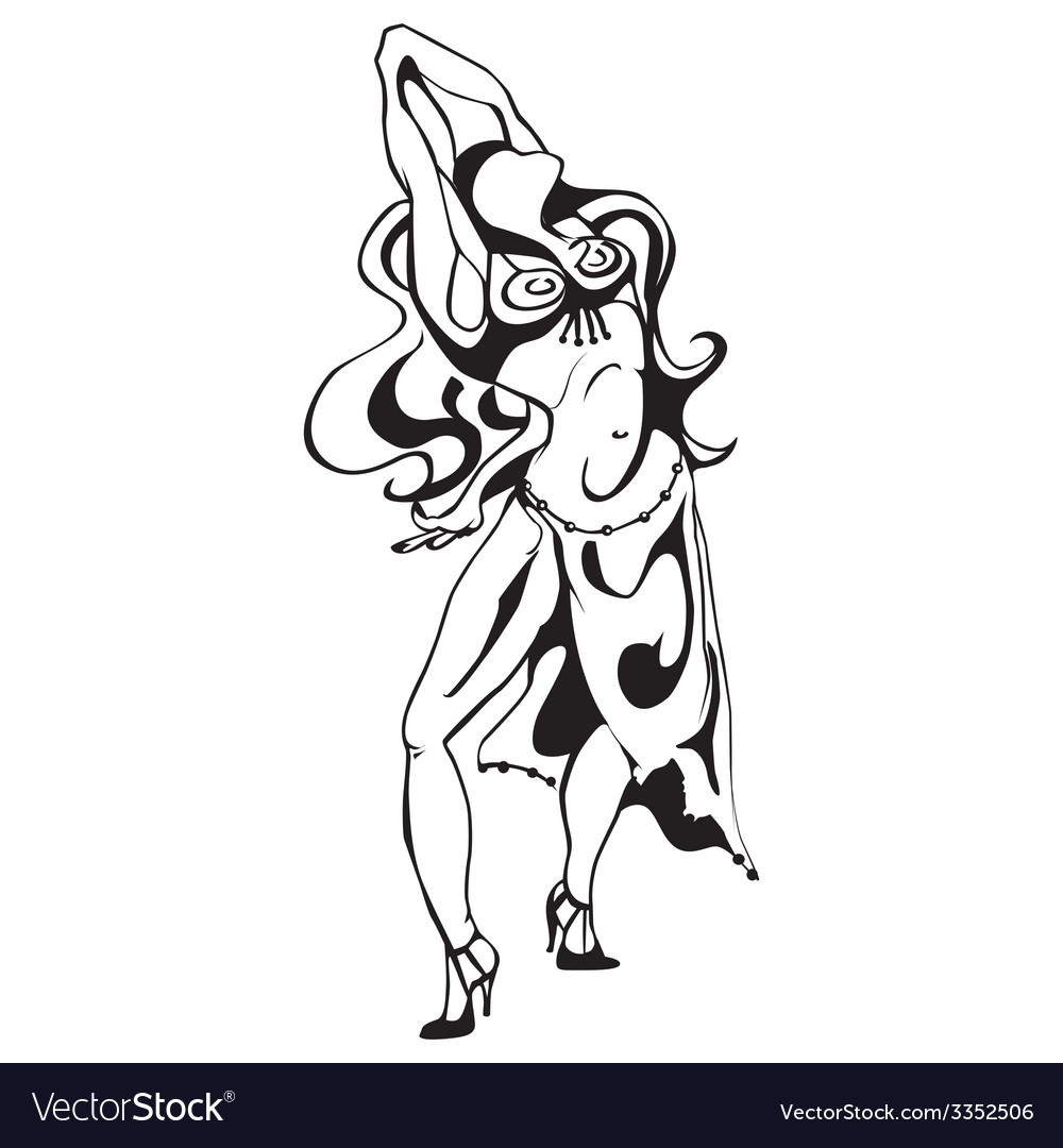 Women dance vector | Price: 1 Credit (USD $1)
