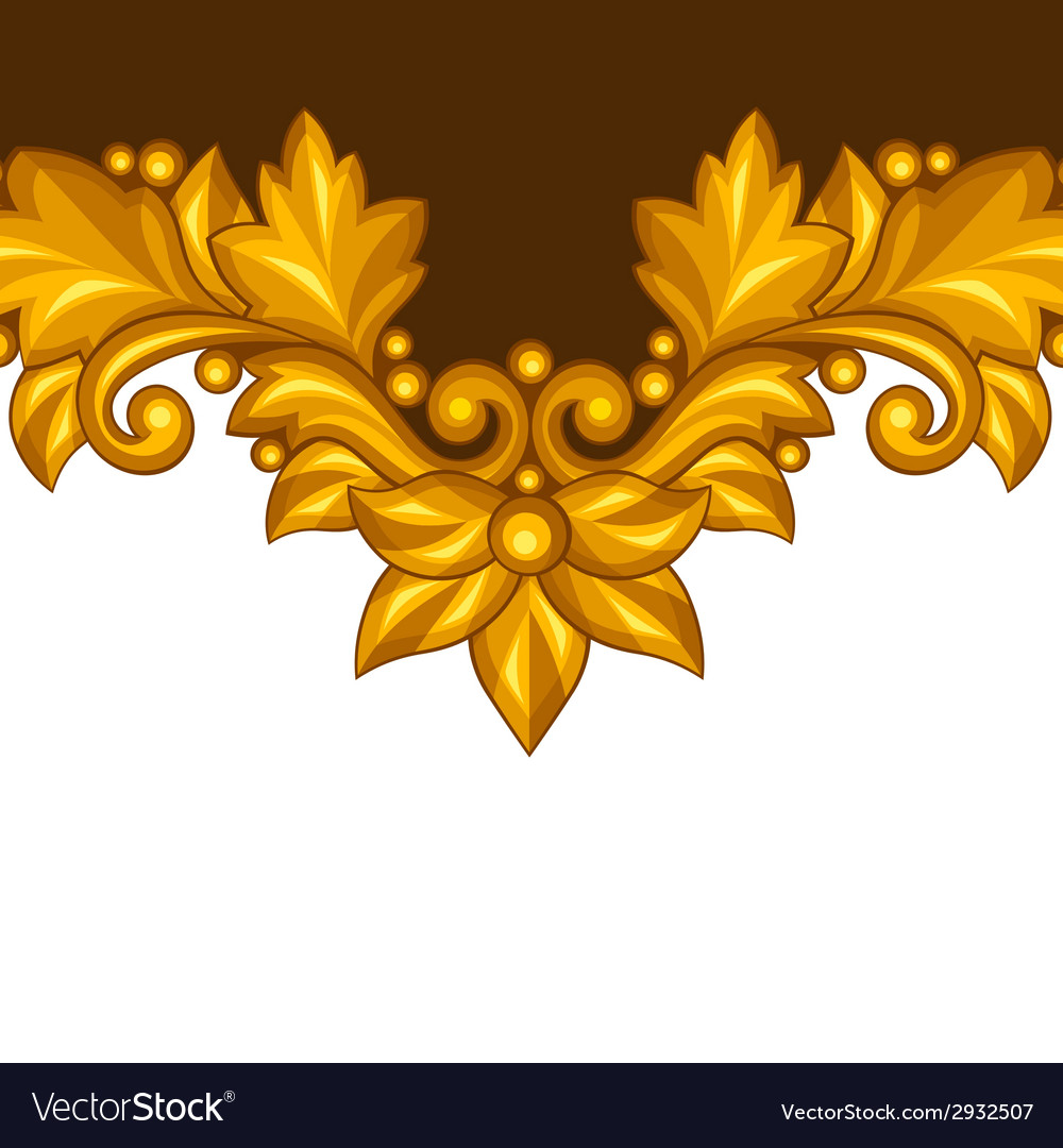 Background with baroque ornamental floral gold vector | Price: 1 Credit (USD $1)