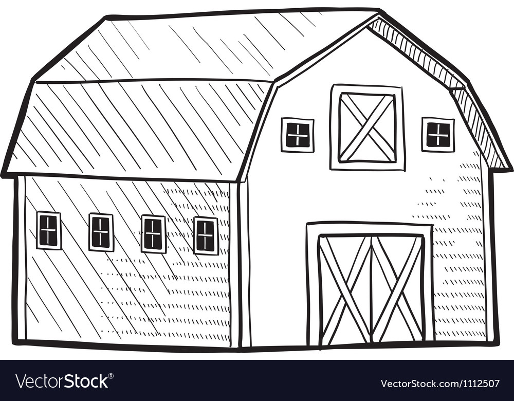 Doodle barn vector | Price: 1 Credit (USD $1)