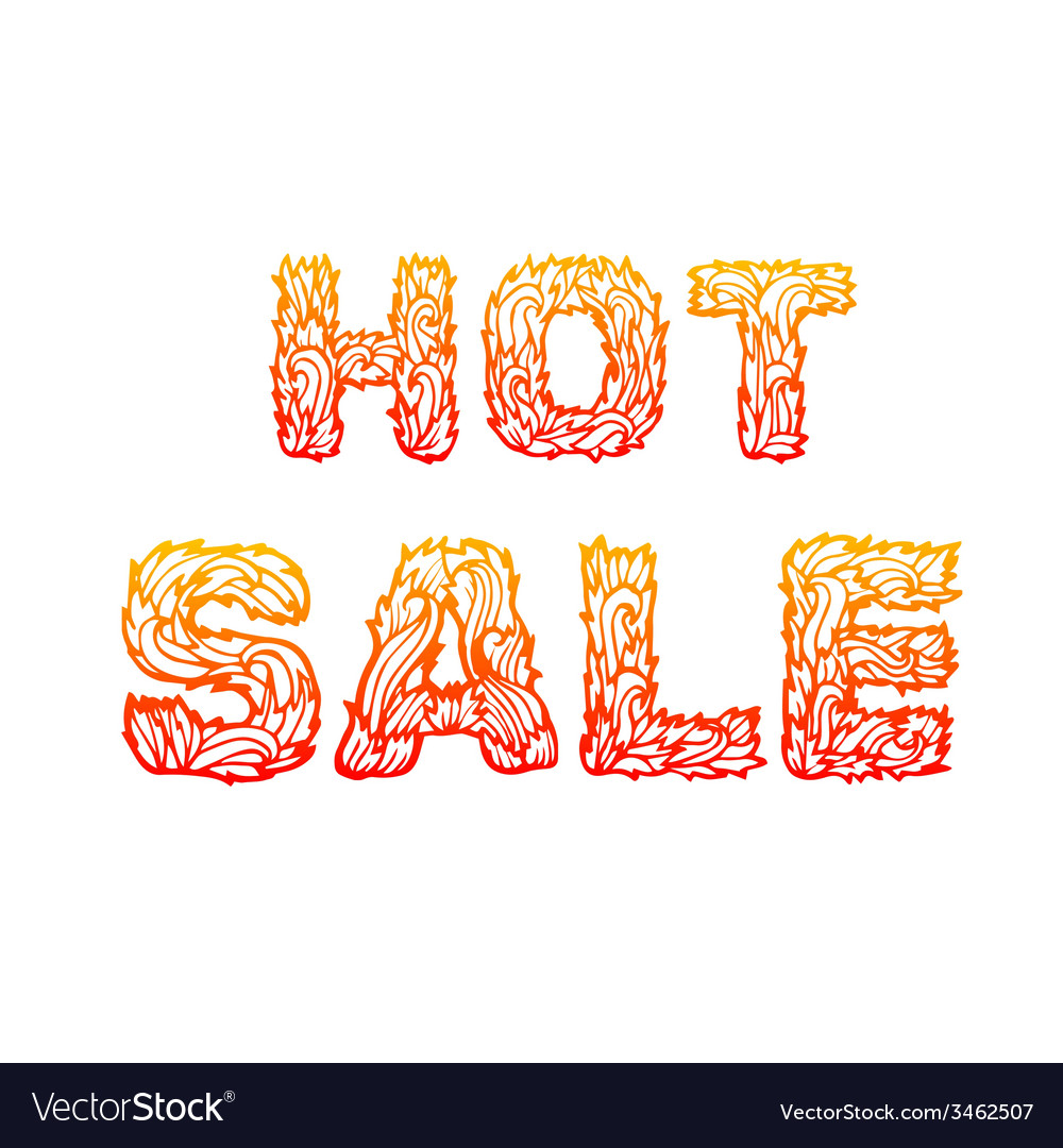 Fire hot sale text on a red background concept vector | Price: 1 Credit (USD $1)