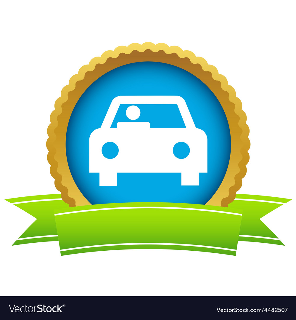 Gold car logo vector | Price: 1 Credit (USD $1)