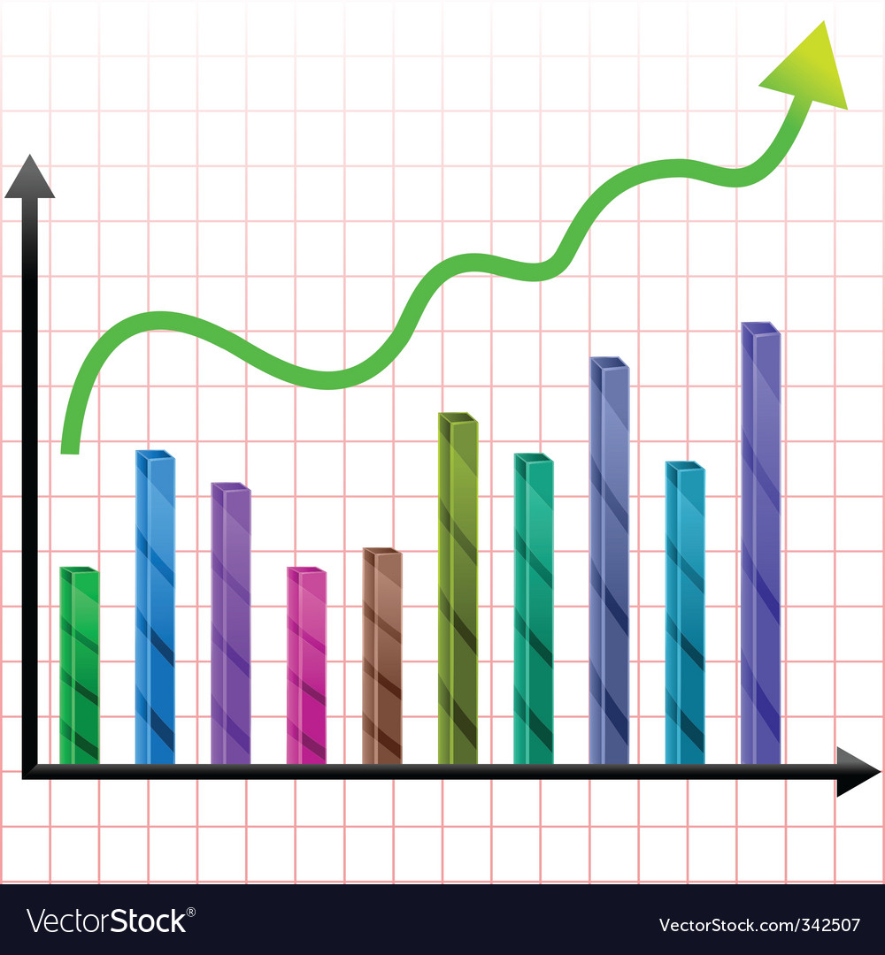 Growing graph vector | Price: 1 Credit (USD $1)