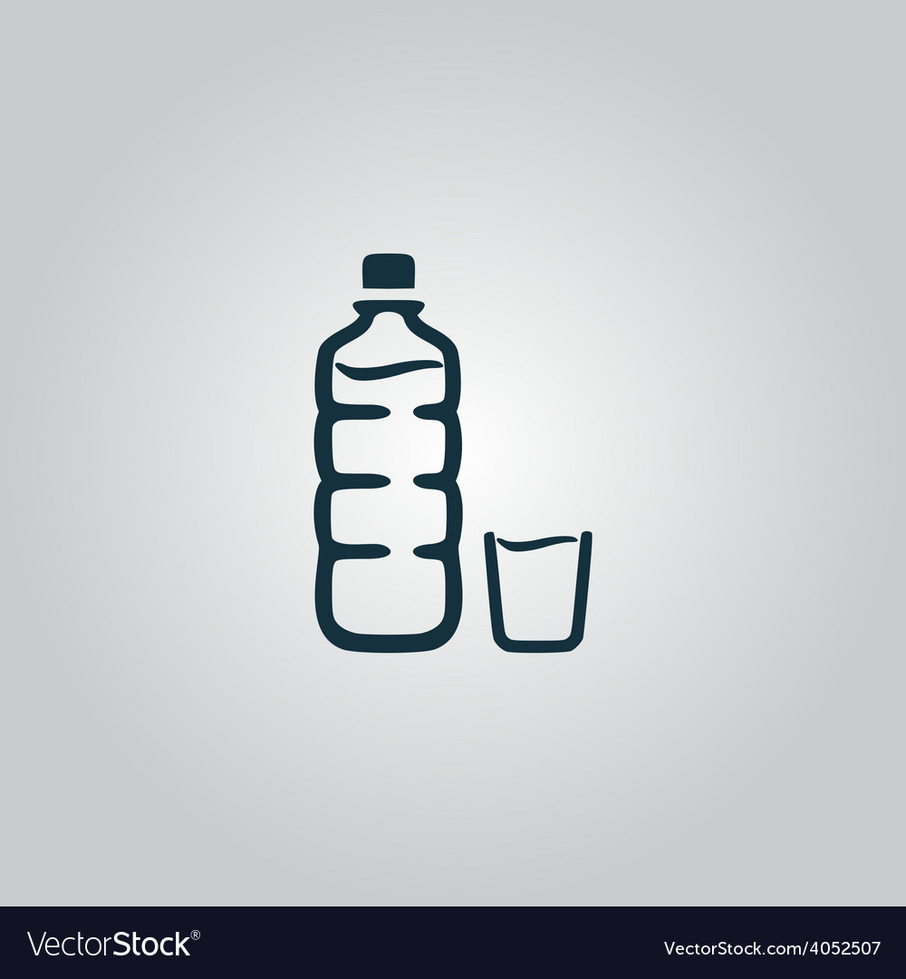 Plastic bottle and glass vector | Price: 1 Credit (USD $1)