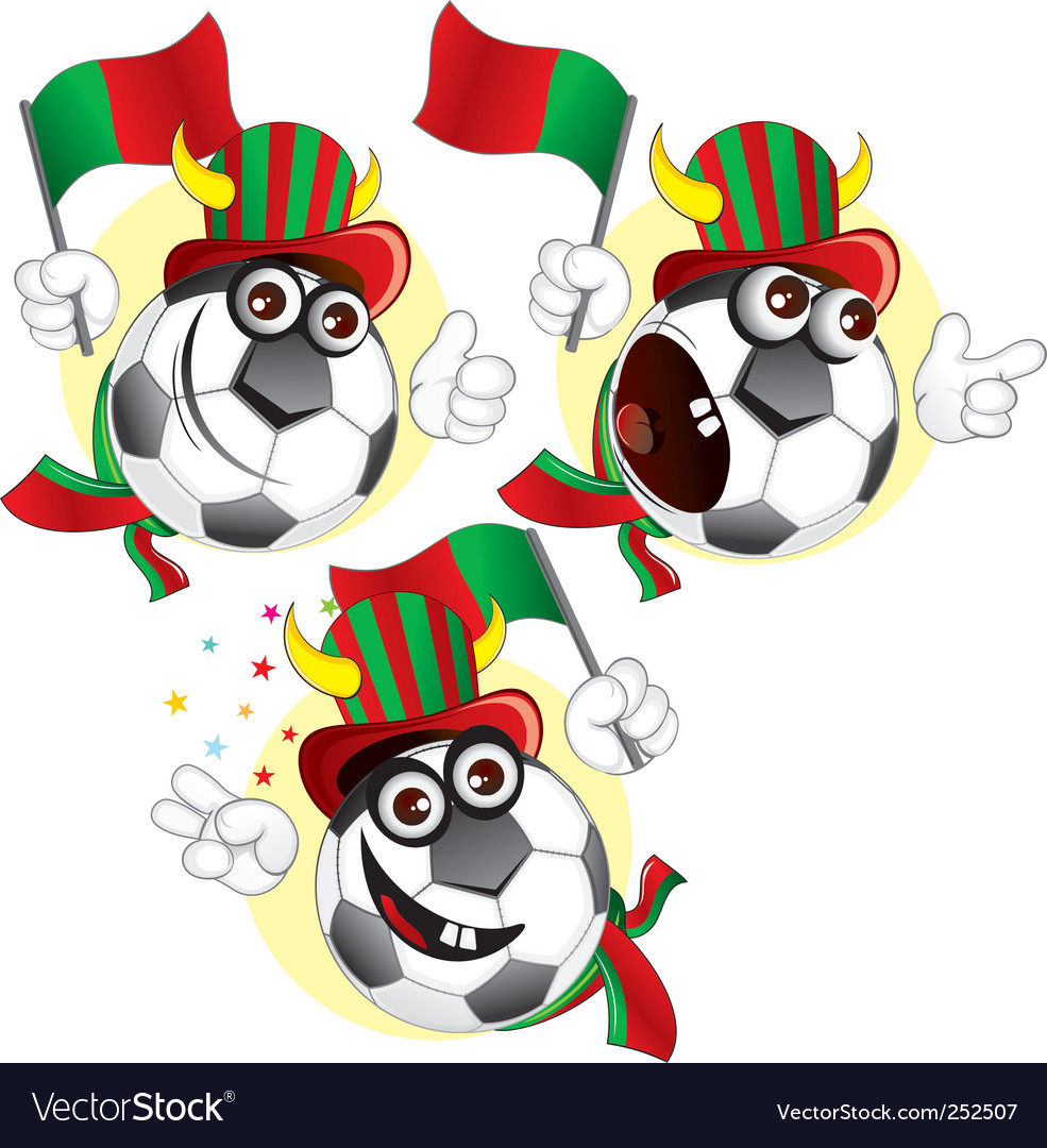 Portugal cartoon ball vector | Price: 3 Credit (USD $3)