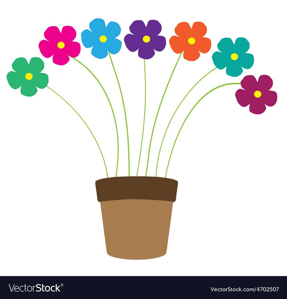 Pot floral vector   Price: 1 Credit (USD $1)