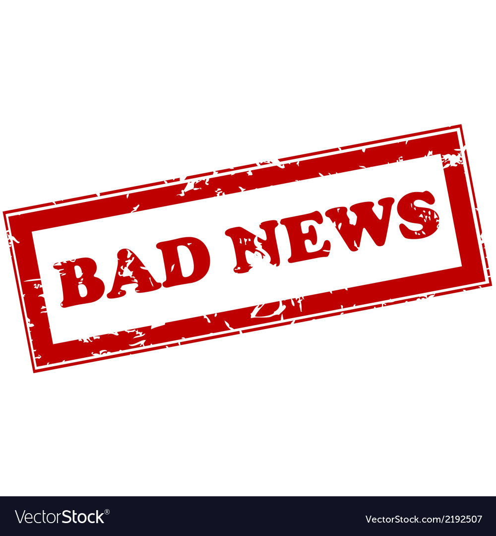 Red stamp with bad news vector | Price: 1 Credit (USD $1)