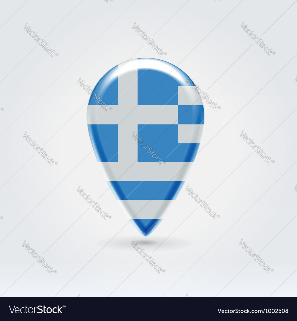 Greek icon point for map vector | Price:  Credit (USD $)