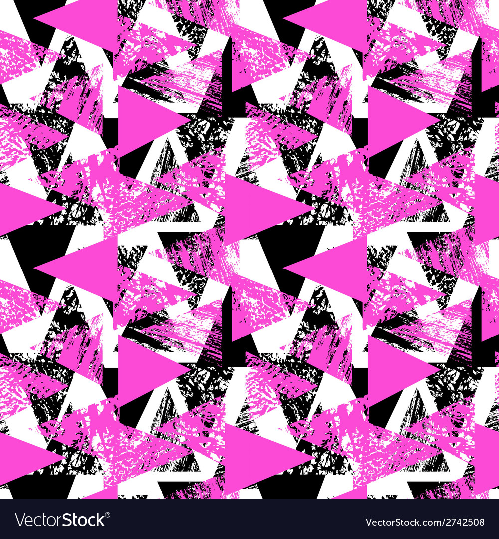 Hand painted bold pattern with triangles vector | Price: 1 Credit (USD $1)