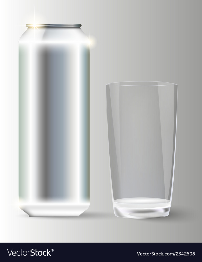 Metal with a glass jar vector | Price: 1 Credit (USD $1)