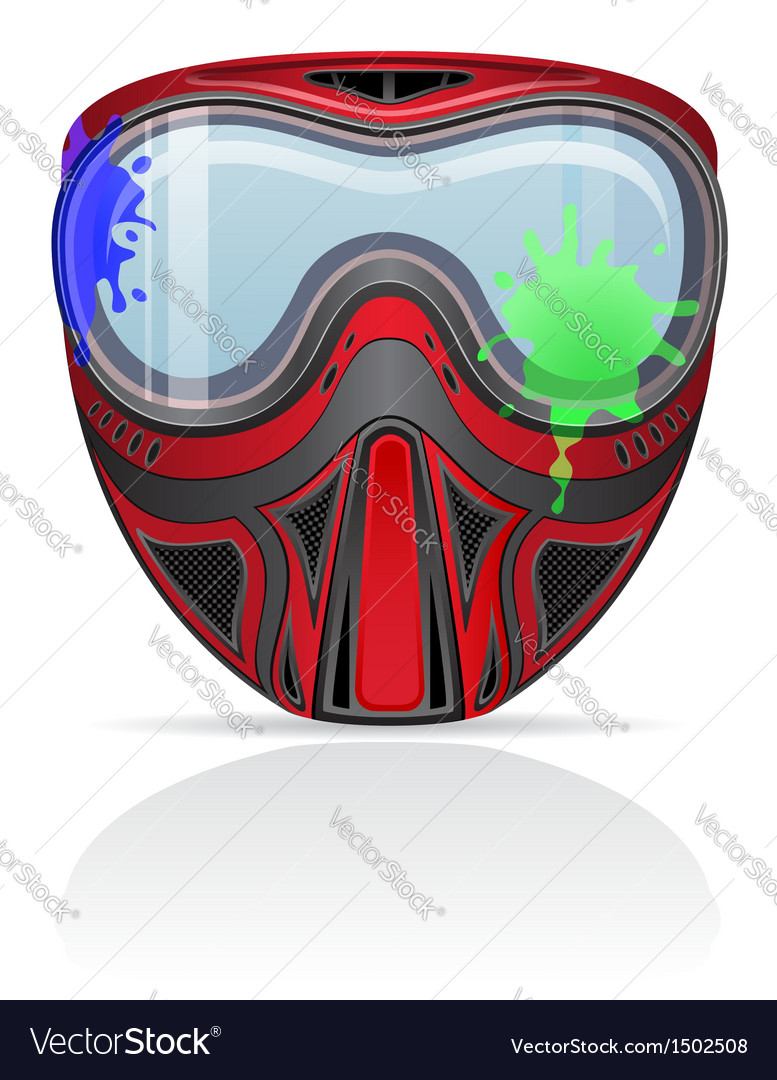 Paintball mask 02 vector | Price: 1 Credit (USD $1)